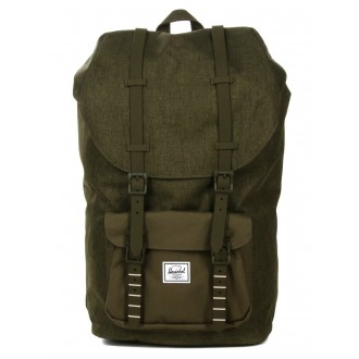Herschel Sac à dos Little America olive night crosshatch/olive night vente