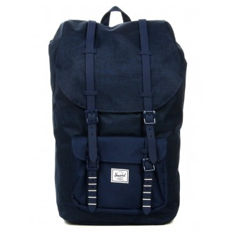 Herschel Sac à dos Little America medievel blue crosshatch/medievel blue vente