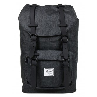 Vacances Noel 2019 | Herschel Sac à dos Little America Mid Volume black crosshatch/black rubber vente