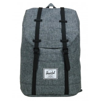 Herschel Sac à dos Retreat raven crosshatch/black rubber vente