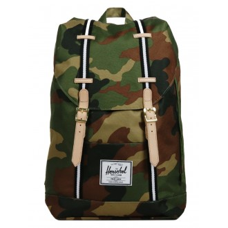 Vacances Noel 2019 | Herschel Sac à dos Retreat Offset woodland camo/black/white vente