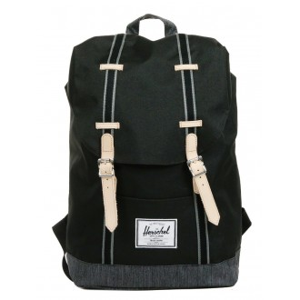 Vacances Noel 2019 | Herschel Sac à dos Retreat Offset black/black denim vente
