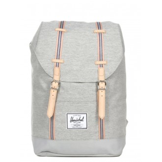 Vacances Noel 2019 | Herschel Sac à dos Retreat Offset light grey crosshatch/high rise vente