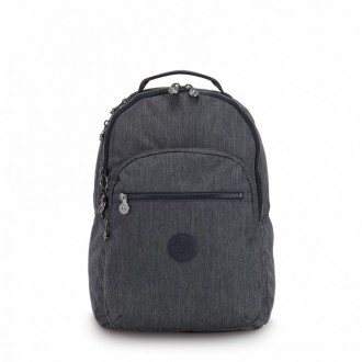 Black Friday 2020 | Kipling Large backpack (with laptop protection) Active Denim pas cher