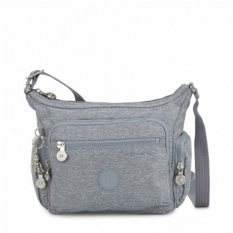 Kipling Petit sac bandoulière à compartiments multiples Cool Denim pas cher