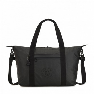Black Friday 2020 | Kipling Sac Cabas Medium avec 2 Poches Frontales Raw Black pas cher