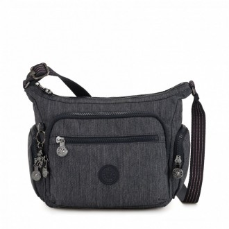 Kipling Petit sac bandoulière à compartiments multiples Active Denim pas cher
