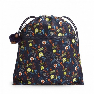 Kipling Grand Sac à Cordon Bright Light pas cher