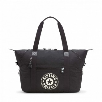 Black Friday 2020 | Kipling Sac Cabas Medium avec 2 Poches Frontales Lively Black pas cher