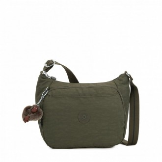 Kipling Sac à Main Imprimé avec Sangle Extensible Jaded Green C pas cher