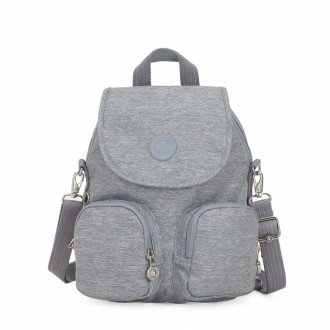Vacances Noel 2019 | Kipling Small backpack (convertible to shoulderbag) Cool Denim pas cher