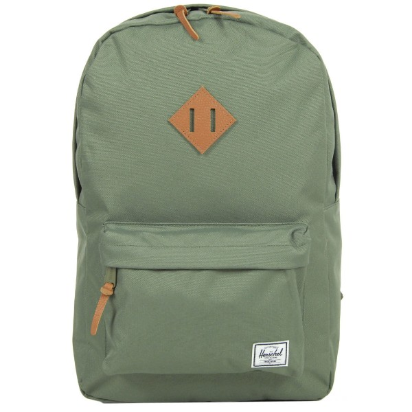 Black Friday 2020 | Herschel Sac à dos Heritage deep lichen green/tan pebbled leather vente
