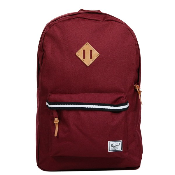 Herschel Sac à dos Heritage Offset windsor wine/veggie tan leather vente