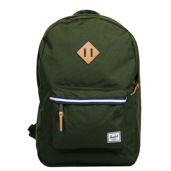 Herschel Sac à dos Heritage Offset forest green/veggie tan leather vente