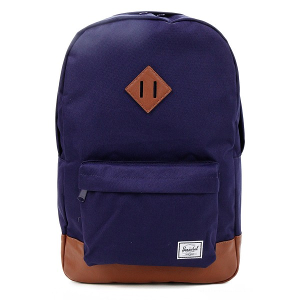 Black Friday 2020 | Herschel Sac à dos Heritage peacoat/tan synthetic leather vente