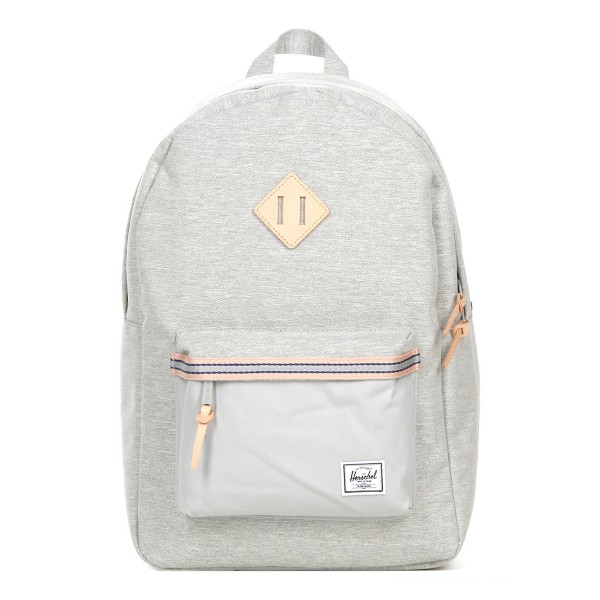 Herschel Sac à dos Heritage Offset light grey crosshatch/high rise vente