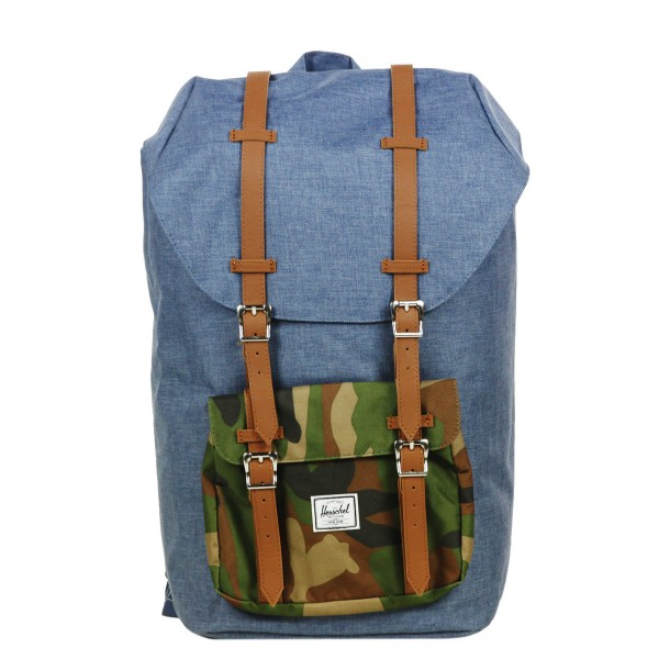 Vacances Noel 2019 | Herschel Sac à dos Little America navy crosshatch vente