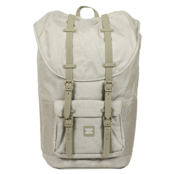 Vacances Noel 2019 | Herschel Sac à dos Little America Aspect dark khaki crosshatch/seneca rock rubber vente