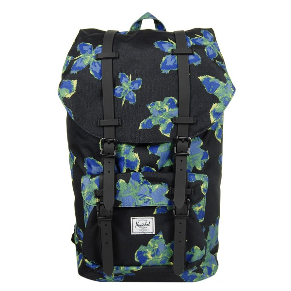 Black Friday 2020 | Herschel Sac à dos Little America neon floral/black rubber vente