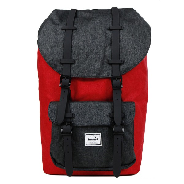 Herschel Sac à dos Little America barbados cherry crosshatch/black crosshatch vente