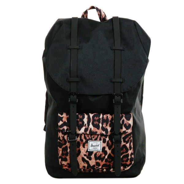Black Friday 2020 | Herschel Sac à dos Little America black/desert cheetah vente