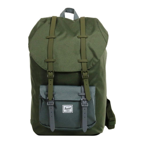 Herschel Sac à dos Little America ivy green/smoked pearl vente