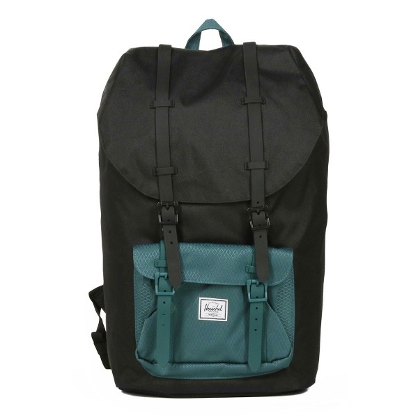 Herschel Sac à dos Little America black/deep teal vente