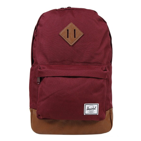 Vacances Noel 2019 | Herschel Sac à dos Heritage Mid Volume windsor wine/tan synthetic leather vente