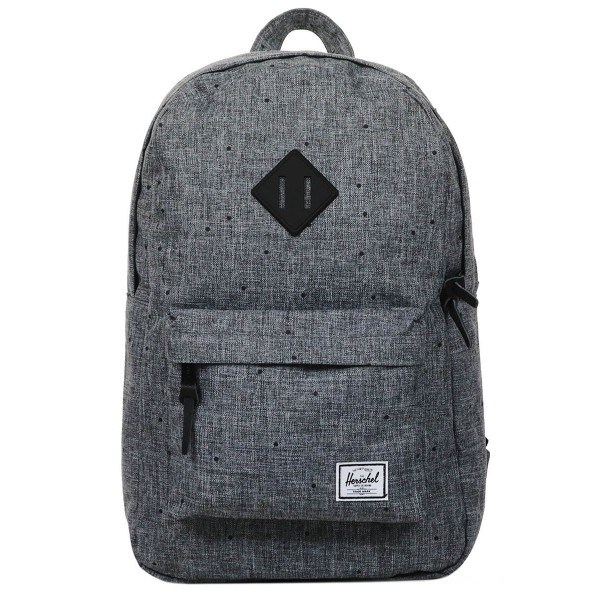 Herschel Sac à dos Heritage Mid Volume scattered raven crosshatch/black rubber vente