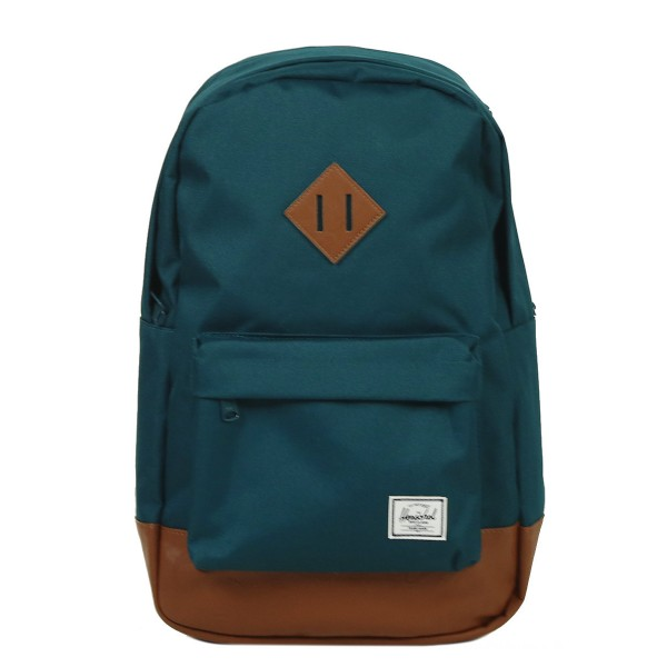 Herschel Sac à dos Heritage Mid Volume deep teal/tan synthetic leather vente