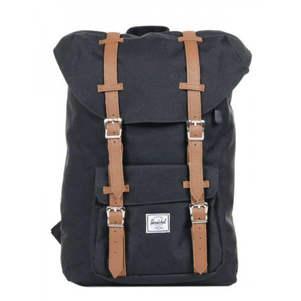 Black Friday 2020 | Herschel Sac à dos Little America Mid Volume black/tan vente