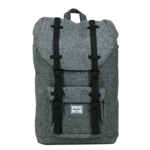 Black Friday 2020 | Herschel Sac à dos Little America Mid Volume raven crosshatch/black rubber vente
