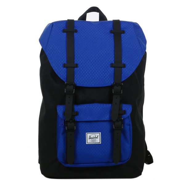 Black Friday 2020 | Herschel Sac à dos Little America Mid Volume black/surf the web/black rubber vente