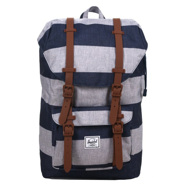 Black Friday 2020 | Herschel Sac à dos Little America Mid Volume border stripe/saddle vente