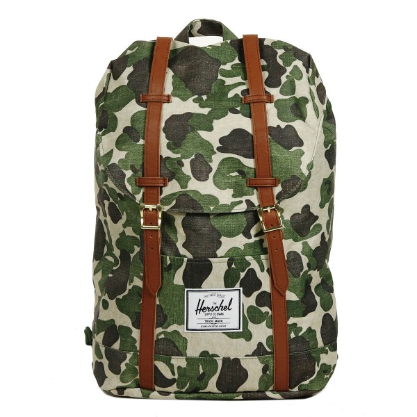 Vacances Noel 2019 | Herschel Sac à dos Retreat frog camo/tan synthetic leather vente