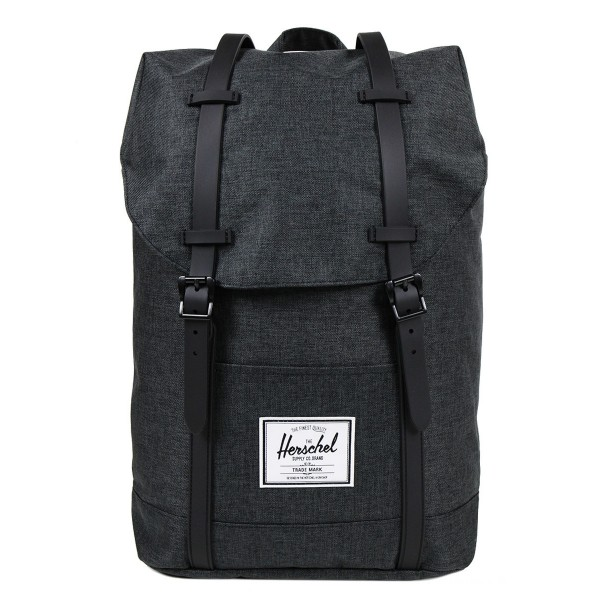 Herschel Sac à dos Retreat black crosshatch/black rubber vente