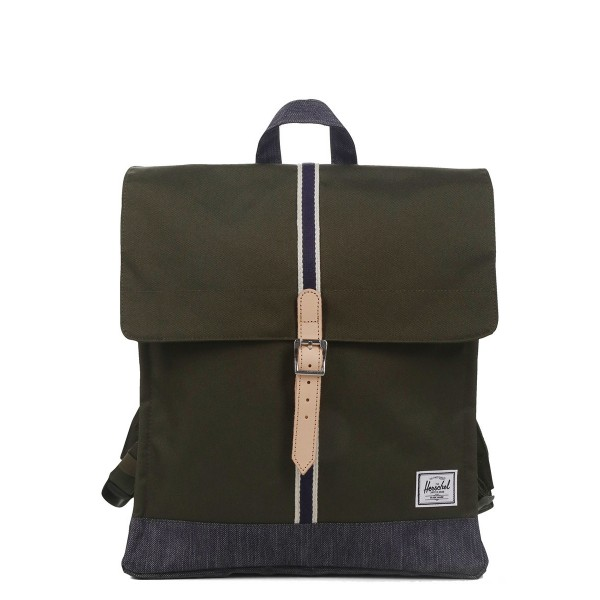 Herschel Sac à dos City Mid-Volume Offset forest night/ dark denim vente