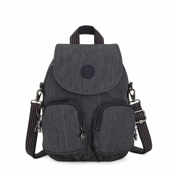 Vacances Noel 2019 | Kipling Small backpack (convertible to shoulderbag) Active Denim pas cher