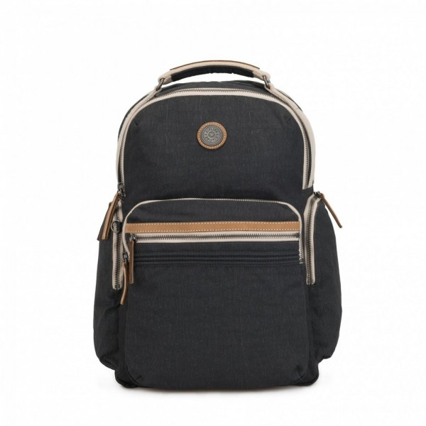Black Friday 2020 | Kipling Grand sac à dos avec poches d'organisation Casual Grey pas cher