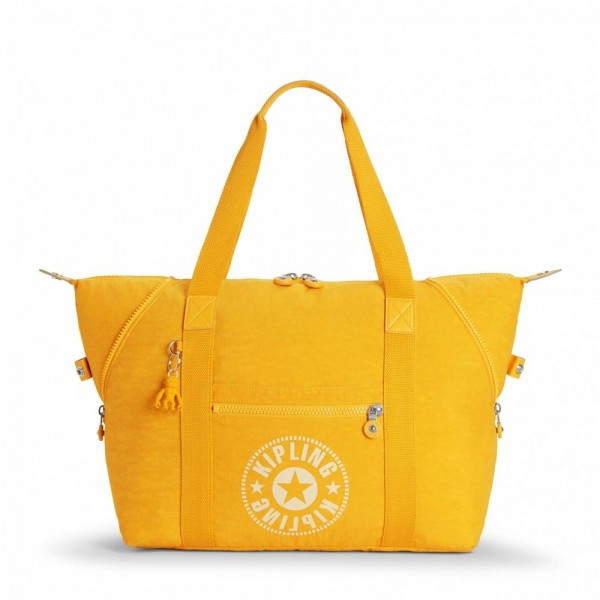 Black Friday 2020 | Kipling Sac Cabas Medium avec 2 Poches Frontales Lively Yellow pas cher