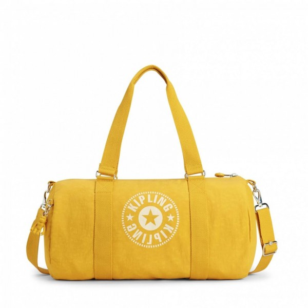 Vacances Noel 2019 | Kipling Sac Polochon Polyvalent Lively Yellow pas cher