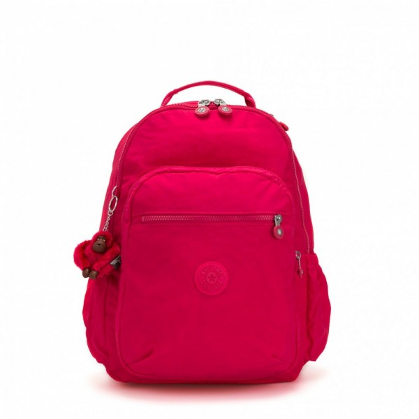 Black Friday 2020 | Kipling Grand Sac à Dos avec Protection pour Ordinateur Portable True Pink pas cher