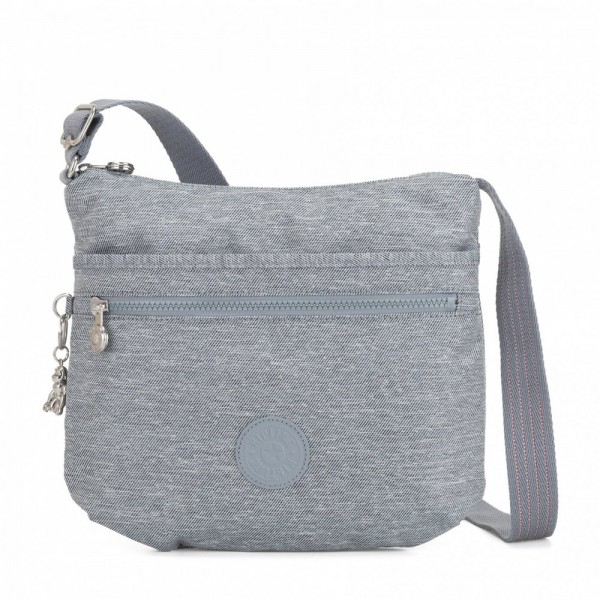 Vacances Noel 2019 | Kipling Medium crossbody Cool Denim pas cher