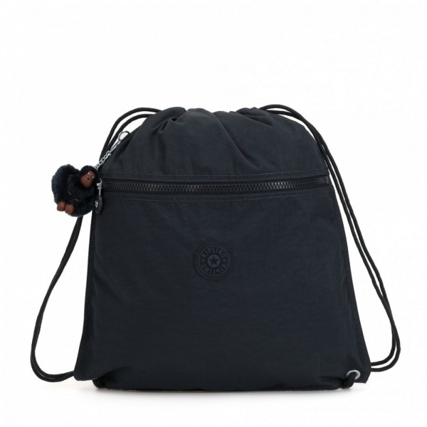Kipling Grand Sac à Cordon True Navy pas cher