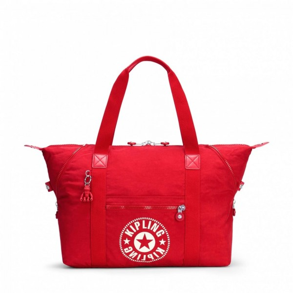 Kipling Sac Cabas Medium avec 2 Poches Frontales Lively Red pas cher