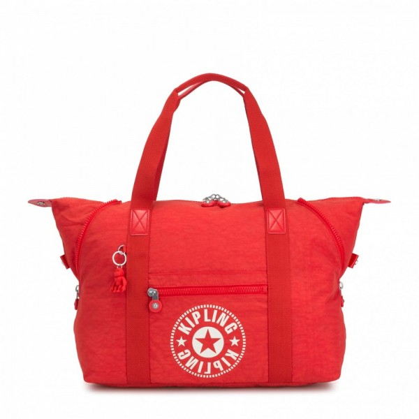 Black Friday 2020 | Kipling Sac Cabas Medium avec 2 Poches Frontales Active Red NC pas cher