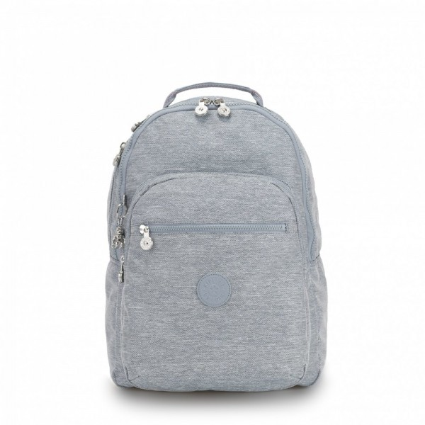 Vacances Noel 2019 | Kipling Large backpack (with laptop protection) Cool Denim pas cher